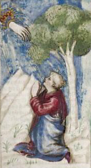 Detail of manuscript illumination