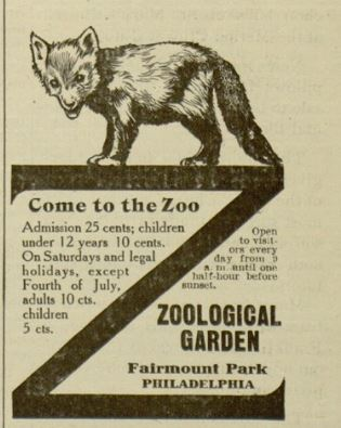 Advertising Recreational Misc Fairmount Park Zoo.JPG