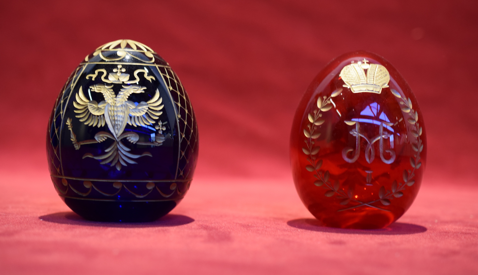 Imperial Etched Glass Crystal Eggs
