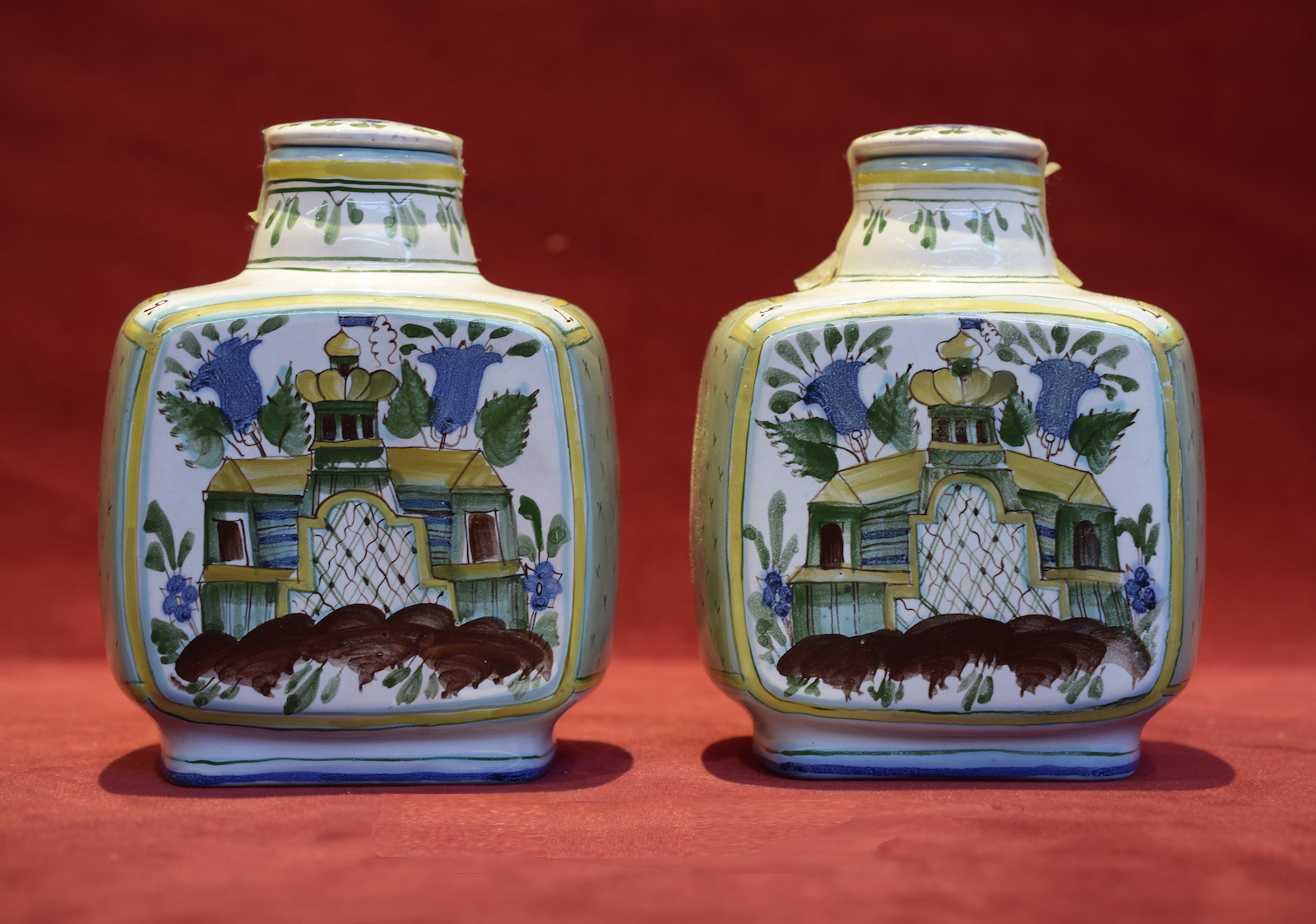 Soviet Tea Containers With Artwork