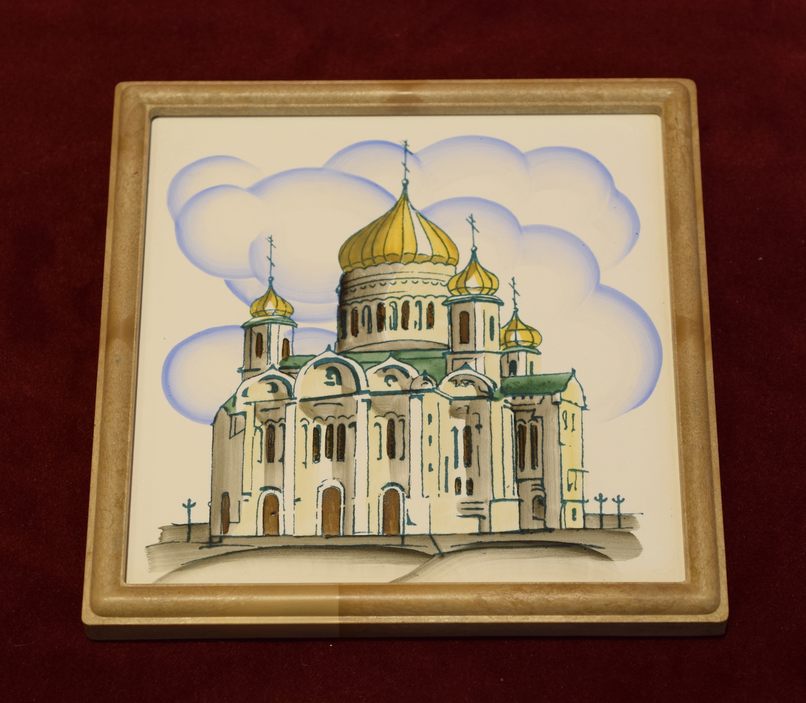 Painted Tile of Christ the Savior Cathedral