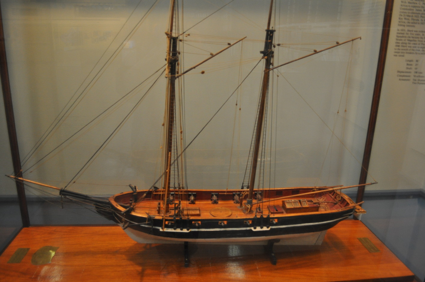 A model of the USS Shark, the first ship Dodd sailed on.