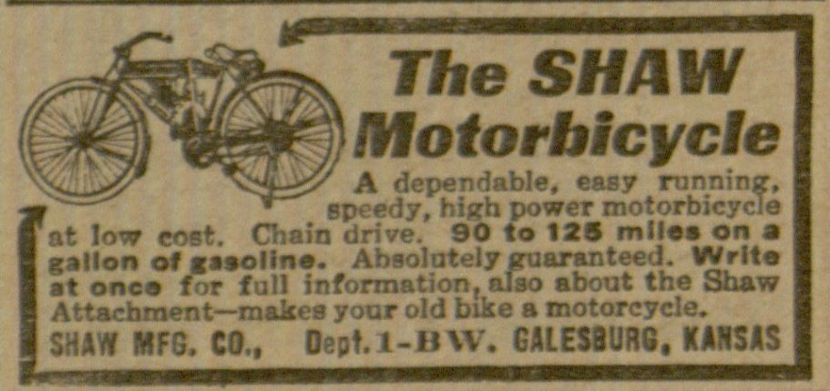 Advertising Recreational Transportation Shaw Motorbicycle2.JPG