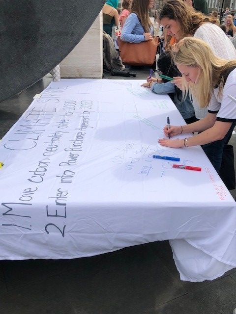 Protest signing