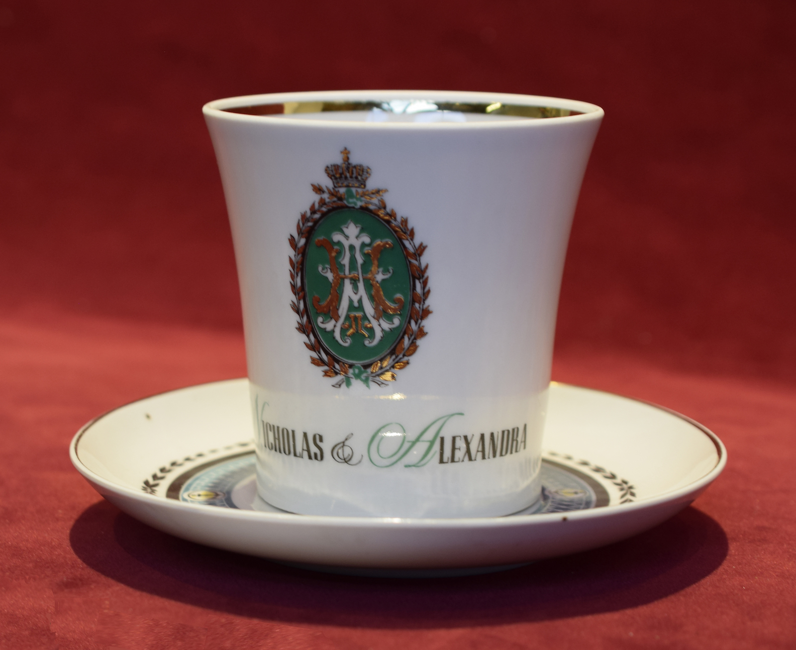 Nicholas and Alexandra Cup and Saucer