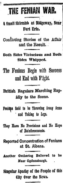 HeadlineScreenshot - The Fenian War Battle of Ridgeway .jpg