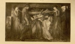 The Death of Beatrice. Source: Dante Alighieri, and Dante Gabriel Rossetti. The New Life of Dante Alighieri. 5th ed. Portland, Maine: Thomas B. Mosher, 1912. Falvey Memorial Library. Special Collections.