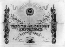 Native American Republican Association Certificate