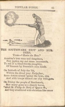 Song lyrics about the riots of July, 1844
