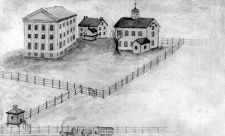 "View of Villanova in 1849 including the ""Belle-Air"" mansion"