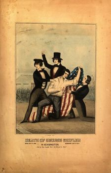 Depiction of the death of George Schiffler