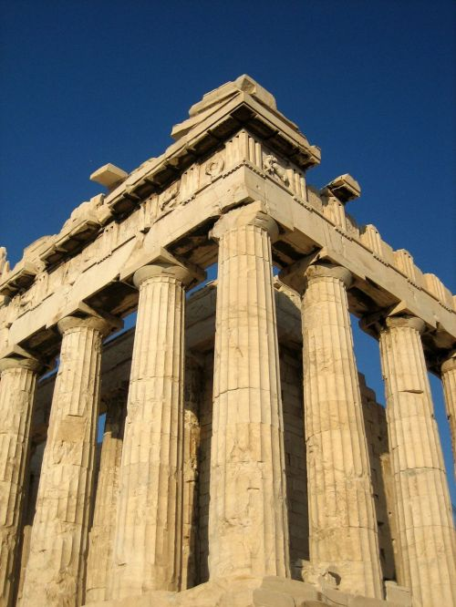 "<font size=""-2"">Figure 10: Columns of the Parthenon showing entasis. Image from the public domain, Wikimedia Commons. http://commons.wikimedia.org/wiki/File:Western-north_corner_of_Parthenon.jpg</font><br><br>"