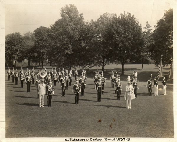 Villanova College Band, 1937. (Courtesy of the University Archives)