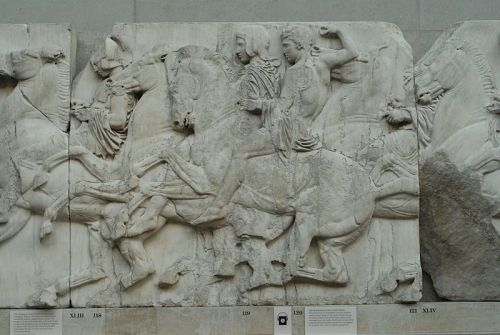 "<font size=""-2"">Figure 5: Close Up of the Frieze. Image CC-BY-SA Twospoonfuls, Wikimedia Commons. http://commons.wikimedia.org/wiki/File:Parthenon_frieze_north_XLIII.JPG</font><br><br>"