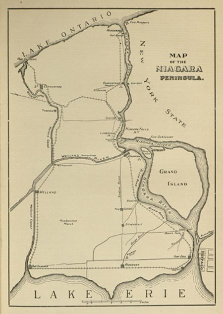 Map of the Niagara Peninsula