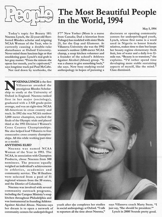 Nnenna Lynch, '93. (Courtesy of the University Archives)