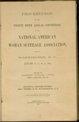 NAWSA Convention, 1893.