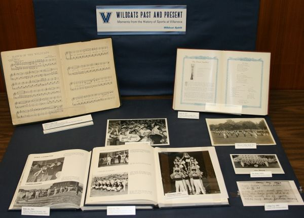Wildcat Spirit Display Case (Special Collections, Falvey Memorial Library)