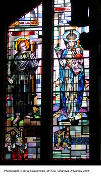 Stained Glass Window in Saint Mary's Hall