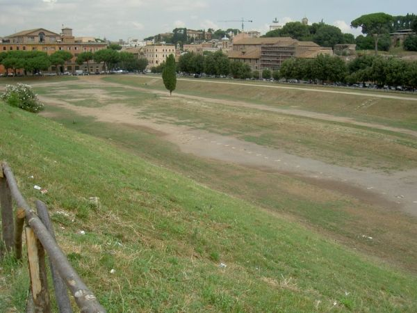 """Circus Maximus<br><font size=""""-2"""">by Alers from sv. Licensed under CC BY-SA 3.0 via Wikimedia Commons - https://commons.wikimedia.org/wiki/File:Circus_Maximus.JPG#/media/File:Circus_Maximus.JPG</font><br><br>"""