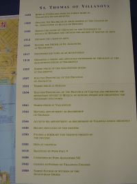 Chronology of the Life of Saint Thomas