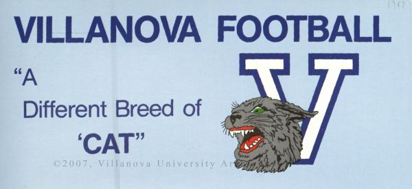 "Villanova Football, ""A Different Breed of 'Cat"", 1987."