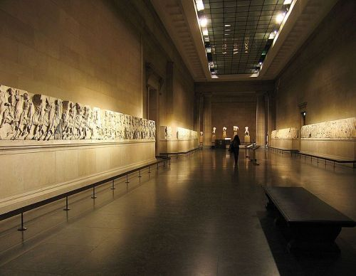 "<font size=""-2"">Figure 11: View of the Parthenon Frieze in London, England. Image CC-BY-SA Andrew Dunn, Wikimedia Commons. http://commons.wikimedia.org/wiki/File:Elgin_Marbles_British_Museum.jpg</font><br><br>"
