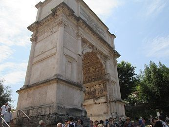 """Arch of Titus, West Facing<br><font size=""""-2"""">Photo Credit: Daniel Bluth, 2013 </font><br>"""