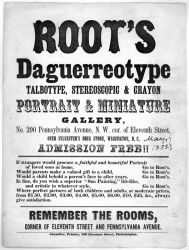 Advertisement for a Daguerreotype Gallery
