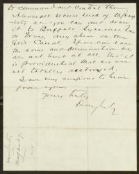 Letter, To: Dear Mr. Gallagher, From: Dougherty, May 30, 1870, back.