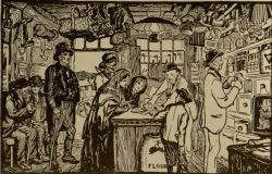 The Shops at Christmastime by Jack B. Yeats. Published in The Ga