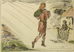 Seamus saw a strange man coming across the bog by Jack B. Yeats,
