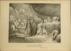"Dor_falsifiers.jpg<br/><span style=""font-size: 70%;"">Gustave Doré. The Falsifiers. 'The crust/ Come down from underneath in flakes, like scales/ Scraped from the bream, or fish of broader mail.' Inf. XXIX 79-81. Source: Dante Alighieri, Henry Francis Cary, and Gustave Doré. Inferno. New Edition. New York. P.F. Collier, limited, 1883. Falvey Memorial Library. Special Collections.</span>"