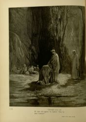 "Dor_Sordello.jpg<br/><span style=""font-size: 70%;"">Gustave Doré. Sordello. 'Through every orb/ Of that sad region, he replied, thus far/ Am I arrived.' Purg. VII. 21-23. Source: Dante Alighieri, Henry Francis Cary, and Gustave Doré. Purgatory and Paradise. new ed. New York [etc.]: Cassell & company, limited, 1883.</span>"
