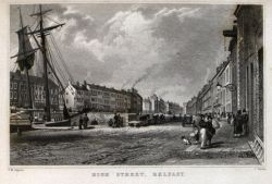 Illustration of Belfast in Ireland Illustrated (1834) by G.N. Wright et al.