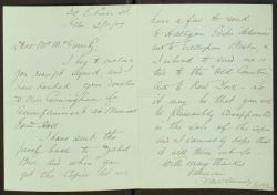 Letter from Edward P Monck to Joseph McGarrity (March 11 1909)