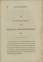 Preamble to the Fenian Constitution