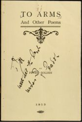 "Title page (signed and inscribed by author to Joseph McGarrity): Peter Golden, To Arms and Other Poems (New York: 1913).  <a href=""https://library.villanova.edu/Find/Record/110904/Holdings#tabnav"">[Special Collections]</a>"