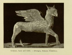 "Perugia_Griffin.jpg<br/><span style=""font-size: 70%;"">The Griffin. Source: Dante Alighieri, and Corrado Ricci. La Divina Commedia. Milano: U. Hoepli, 1921. Volumes 1-3. Falvey Memorial Library. Special Collections.</span>"