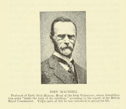 """Eoin MacNeill,"" in The Irish Rebellion of 1916 or The Unbroken Tradition by Nora Connolly, 1919, following page 152."