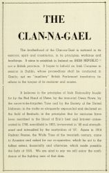 "Pages, Souvenir Program, ""The Clan-Na-Gael"""