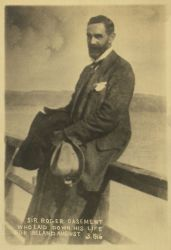 """Sir Roger Casement Who Laid Down His Life for Ireland, August 3, 1916,"" Photograph, Roger Casement Seated Seaside, n.d."