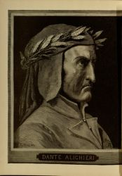 "Portrait of Dante by Gustave Doré<br/><span style=""font-size: 70%;"">Gustave Doré. Portrait of Dante. Source: Dante Alighieri, Henry Francis Cary, and Gustave Doré. Inferno. New Edition. New York. P.F. Collier, limited, 1883. Falvey Memorial Library. Special Collections.</span>"