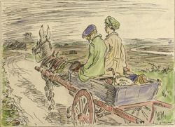Frontispiece by Jack B. Yeats, The Turf-cutter's Donkey by