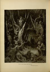 "Dor_the_suicides.jpg<br/><span style=""font-size: 70%;"">Gustave Doré. Harpies in the Wood of Suicides. 'Here the brute Harpies make their nest.' Inf. XIII. 11. Source: Dante Alighieri, Henry Francis Cary, and Gustave Doré. Inferno. New Edition. New York. P.F. Collier, limited, 1883. Falvey Memorial Library. Special Collections.</span>"