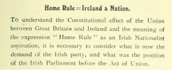 Home Rule: Fenian Home Rule: Home Rule All Round: Devolution: What Do They Mean? by Arthur Warren Samuels, 1911, page 7.