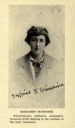 """Margaret Skinnider,"" in Doing My Bit for Ireland by Margaret Skinnider, 1917, frontispiece."
