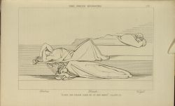 "Flaxman_the_poets_resting.jpg<br/><span style=""font-size: 70%;"">John Flaxman. The Poets Reposing. 'A step his pillow each of us had made' Purg. XXVII. 73. Source: Dante Alighieri, Ichabod Charles Wright, and John Flaxman. The Divine Comedy. 5th ed. London: Bell & Daldy, 1867. Falvey Memorial Library. Special Collections.</span>"
