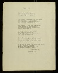 "<p><span style=""color: #888888;""><span style=""color: #000000;"">Typescript poem, ""Pearse,"" by Joseph McGarrity, June 10, 1916.</span>  <a href=""http://digital.library.villanova.edu/Joseph%20McGarrity%20Collection/Joseph%20McGarrity%20Papers/JosephMcGarrityPapers-4f422a0f-a0c3-45f3-8857-326a3d462e7c.xml"" target=""_blank"">[Digital Library]</a></span></p>"