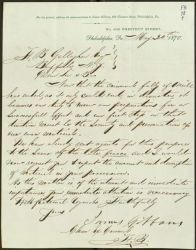 Letter, To: F.B. Gallagher Esq, From: James Gibbons, May 30, 1870.
